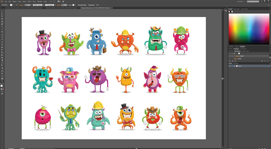 monster business card template kit preview